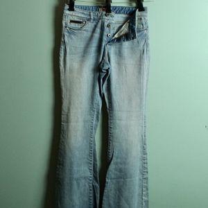 LL Bean Buttonfly Bootcut Jeans Womens size 6